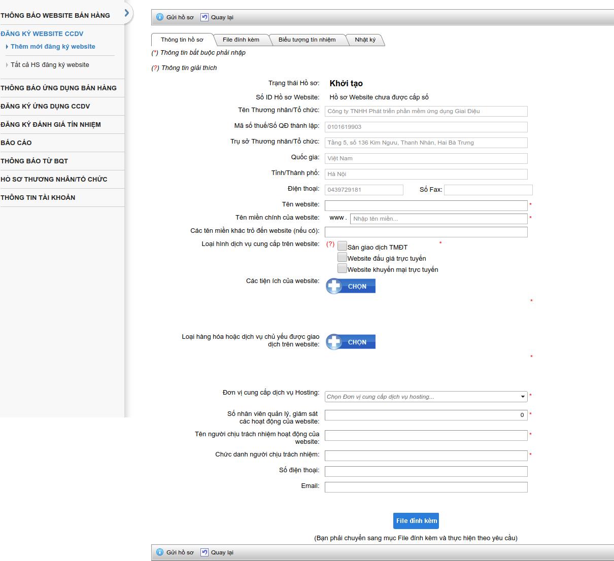 cách đăng ký website thương mại điện tử